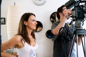 Soraya Garré filming